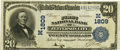 National Bank Notes:Missouri, Jefferson City, MO - $20 1902 Plain Back Fr. 653 The First NB Ch. #(M)1809 PCGS Very Fine 30.. ...