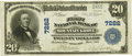 National Bank Notes:Missouri, Mountain Grove, MO - $20 1902 Plain Back Fr. 650 The First NB Ch. #7282 PCGS Very Fine 35PPQ.. ...
