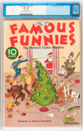 Platinum Age (1897-1937):Miscellaneous, Famous Funnies #17 (Eastern Color, 1935) CGC VF- 7.5 Cream to off-white pages....