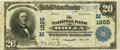 National Bank Notes:Missouri, Rolla, MO - $20 1902 Plain Back Fr. 654 The NB of Rolla Ch. #(M)1865 PCGS Very Fine 20 Apparent.. ...