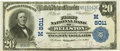 National Bank Notes:Missouri, Wellston, MO - $20 1902 Plain Back Fr. 651 The First NB Ch. #(M)8011 PCGS Very Fine 30.. ...