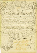 Colonial Notes:Connecticut, Colony of Connecticut July 10, 1733 Redated May, 1740 Face and July8, 1740 Back 5 Pounds Fr. CT-48d. PCGS Choice Abou...