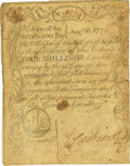 Colonial Notes:Massachusetts, Massachusetts Bay August 18, 1775 4 Shillings Fr. MA-161. PCGS VeryFine 20 Apparent.. ...