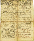Colonial Notes:Massachusetts, Massachusetts Isaac Winslow Merchant or Order, Boston Silver BankAugust 1, 1740 7 Shillings 6 Pence (7 dwt., 12gr) Fr. MA-87....