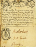 Colonial Notes:New Hampshire, Province of New Hampshire Dec. 25, 1734 Portsmouth Merchant's Note10 Shillings Fr. NH-38.5. PCGS Extremely Fine 40 Apparent....