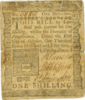 Colonial Notes:Pennsylvania, Pennsylvania October 1, 1755 1 Shilling Fr. PA-63. PCGS Very Fine25 Apparent.. ...
