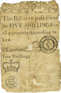 Colonial Notes:South Carolina, South Carolina 1723 5 Shillings Fr. SC-24. PCGS Very Good 10Apparent.. ...