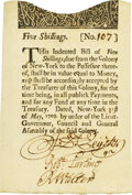 Colonial Notes:New York, Colony of New York May 31, 1709 5 Shillings Fr. NY-1. PCGSExtremely Fine 45 Apparent.. ...