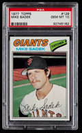 Baseball Cards:Singles (1970-Now), 1977 Topps Mike Sadek #129 PSA Gem Mint 10....