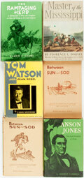 Books:Americana & American History, [American History]. Group of Six Books. Various publishers anddates. Four inscribed by the authors.... (Total: 6 Items)