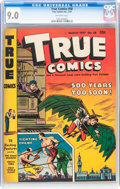 Golden Age (1938-1955):Non-Fiction, True Comics #58 (True, 1947) CGC VF/NM 9.0 Off-white pages....