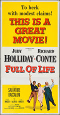 "Movie Posters:Comedy, Full of Life & Others Lot (Columbia, 1957). Three Sheets (3)(41"" X 79""). Comedy.. ... (Total: 3 Items)"