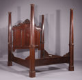 Miscellaneous, A Victorian Walnut Plantation Tester Bed. . Unknown Maker, American. 19th Century. Walnut. inches high x inches wide; . ...