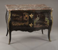 Decorative Arts, French, A Louis XV Coromandel Lacquered Commode. Unknown maker, French.Circa 1760-1780. Lacquer, ebony veneer, gilt bronze, marbl...