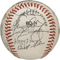Autographs:Baseballs, 1987 Pittsburgh Pirates Team Signed Baseball. The 1987 PittsburghPirates we led and managed by Jim Leyland. the team could...