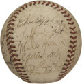 Autographs:Baseballs, 1940 Chicago White Sox Team Signed Baseball. Twenty-two signaturesfrom the 1940 Chicago White Sox reside on the surface of...