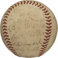 Autographs:Baseballs, 1940 NL All-Star Team Signed Baseball. A total of 30 members of the1940 National League All-Stars have adorned the provide...