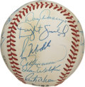Autographs:Baseballs, 1990 Chicago Cubs Team Signed Baseball. The ONL (White) baseball isembellished with the signatures of the 1990 Chicago cub...