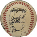 Autographs:Baseballs, 1986 New York Mets World Champion Team Signed Baseball. The World Series Champion New York Mets appear here in the form of...