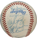Autographs:Baseballs, 1990 Boston red Sox Team Signed Baseball. The 1990 Boston Red Soxwere led and managed by eventual Hall of Famer Joe Morgan...