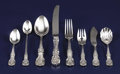Silver Flatware, American:Reed & Barton, An American Silver Flatware Service. Reed & Barton, Taunton,Massachusetts. Designed 1907. Silver and stainless steel. Mar...(Total: 46 Items)