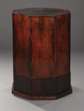 Furniture : Continental, A Mahogany Octagonal Pedestal. Unknown maker, Continental. 19thcentury. Mahogany veneer. Marks: none . 33 inches high x 2...