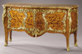 Furniture : French, A French 19th Century Gilt Bronze and Marquetry Commode àVantaux . Based on a model by Bernard II van Risenbu...