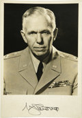 "Autographs:Military Figures, General George C. Marshall Signed Photograph, ""G CMarshall"", 5.5"" x 8"", bold signature on lower margin, pencilnotation..."