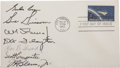 Autographs:Celebrities, Seven Gemini and Mercury Astronaut Signatures on Project MercuryFirst Day Cover,...
