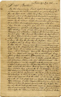 """Autographs:Non-American, Colonial Trans-Atlantic Mercantile Autograph Letter Signed,""""Andreas Henry Groth,"""" three pages with integral addresspan... (Total: 1 Item)"""