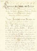 "Autographs:Non-American, Danish King Christian VII Letter Signed, ""Christian"", twopages, 7.5"" x 10.75"", Copenhagen, November 10, 1766, to unkno..."