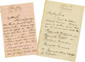 Autographs:Celebrities, Henry Ward Beecher and William Lloyd Garrison Archive. Amiscellaneous lot of items from noted abolitionists Henry WardBeec... (Total: 6 Items)