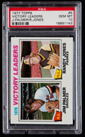 Baseball Cards:Singles (1970-Now), 1977 Topps Victory Leaders #5 PSA Gem Mint 10....
