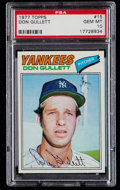 Baseball Cards:Singles (1970-Now), 1977 Topps Don Gullett #15 PSA Gem Mint 10 - Pop Three. ...