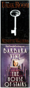 Books:Mystery & Detective Fiction, [Mystery & Detective Fiction]. Pair of SIGNED Titles.Including: Minette Walters. SIGNED. The Dark Room. New...(Total: 2 Items)