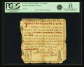 "Colonial Notes:Georgia, Province of Georgia 1769 Lighthouse Certificate 1 Pound Written ""9""in Date Fr. GA-47a. PCGS Fine 15 Apparent.. ..."