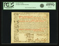 Colonial Notes:Georgia, Province of Georgia 1773 20 Shillings Certificate Fr. GA-48Remainder. PCGS Extremely Fine 45PPQ.. ...