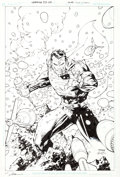 Original Comic Art:Covers, Jim Lee and Scott Williams Superman #205 Cover Original Art(DC, 2004)....