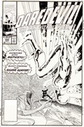 Original Comic Art:Covers, John Romita Jr. and Al Williamson Daredevil #282 SilverSurfer Cover Original Art (Marvel, 1990)....