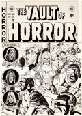 Original Comic Art:Covers, Johnny Craig Vault of Horror #28 Zombie Cover Original Art (EC, 1952)....