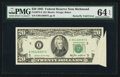 Error Notes:Foldovers, Fr. 2075-E $20 1985 Federal Reserve Note. PMG Choice Uncirculated64 EPQ.. ...