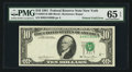Error Notes:Foldovers, Fr. 2025-B $10 1981 Federal Reserve Note. PMG Gem Uncirculated 65EPQ.. ...