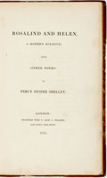 Books:Literature Pre-1900, Percy Bysshe Shelley. Rosalind and Helen, A Modern Eclogue.London: Printed for C. and J. Ollier, 1819....