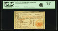 Colonial Notes:Georgia, Georgia 1776 Orange or Green $2 Orange Floating Jugs Seal Fr.GA-72c. PCGS Very Fine 25.. ...
