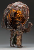 Decorative Arts, Continental:Lamps & Lighting, An Austrian Cold Painted Bronze Figural Lamp, circa 1900. 13-3/4inches high (34.9 cm). ...