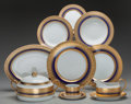 Ceramics & Porcelain, Russian, A Fifty-One Piece Faberge Imperial Heritage PatternPorcelain Service for Eight, late 20th century. Marks: FAB...(Total: 51 Items)