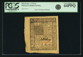 Colonial Notes:Delaware, Colony of Delaware January 1, 1776 6 Shillings Fr. DE-78. PCGS VeryChoice New 64PPQ.. ...