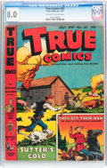 Golden Age (1938-1955):Non-Fiction, True Comics #62 (True, 1947) CGC VF 8.0 Off-white to whitepages....