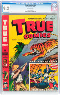 Golden Age (1938-1955):Non-Fiction, True Comics #64 (True, 1947) CGC NM- 9.2 Off-white pages....