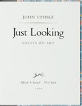 Books:Literature 1900-up, John Updike. SIGNED/LIMITED. Just Looking. New York: AlfredA. Knopf, 1989. Edition limited to 350 signed and number...